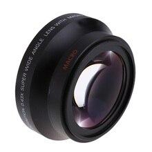 67mm cyfrowy o wysokiej rozdzielczości 0.43x super szeroki kąt obiektyw do modeli canon Rebel T5i T4i T3i 18 135mm 17 85mm dla Nikon 18 105 70 300VR