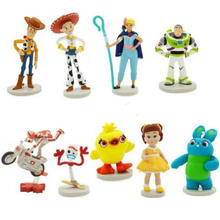 Toy Story4 Buzz Lightyear Woody Jessie Lotso Rex Mr Potato Head Little Green Men Spider model toys Free shipping woody leonhard green home computing for dummies