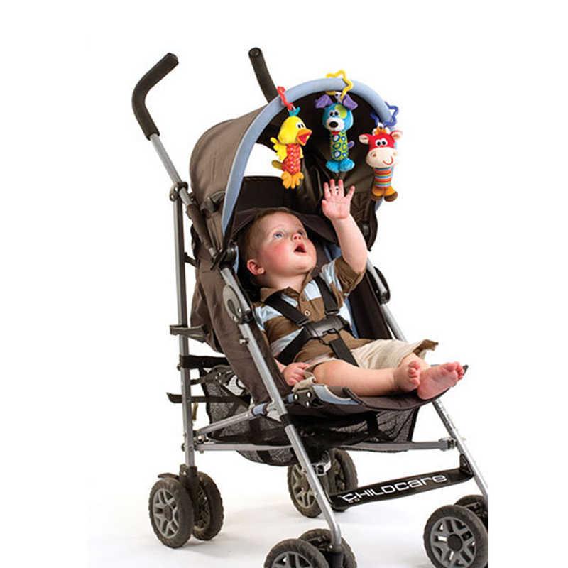 6 รูปแบบเด็กทารก Rattle ของเล่นการ์ตูนตุ๊กตาสัตว์มือ Bell เด็กแรกเกิดรถเข็นเด็กทารก Crib แขวน Rattles Kawaii เด็กทารกของเล่น