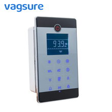 Vagsure 1Set Touch Screen MP3 USB Digital LCD Display FM Radio Vent Fan Light Speaker Shower Cabin Controller Radio Accessories