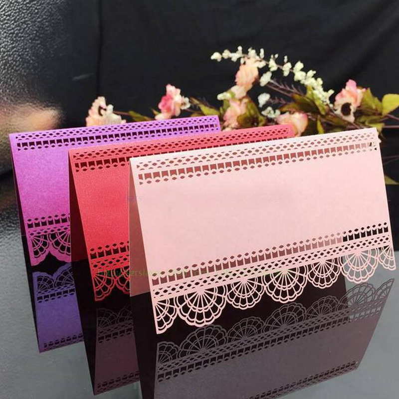 100X Wedding Place Cards Birthday Party Table Centerpieces Decoration Craft Guest Table Cards Festive Events Supplies 4Colors блуза love my body love my body lo008ewmcu28