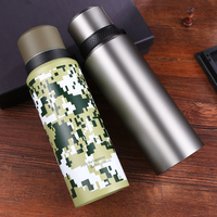 ONE SUS 304 Vacuum Mug 800ml 1000ml Sports Thermoses Double Insulated Bottle Men Bottle Hiking Thermos