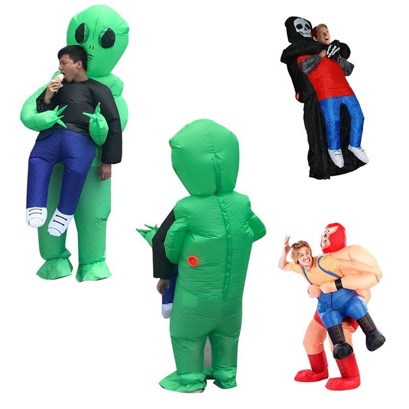 Accessoires créatifs Blague Jouet ET Fantôme Gonflable Vêtements Modèle Halloween Comédie Jouets Bar Décor