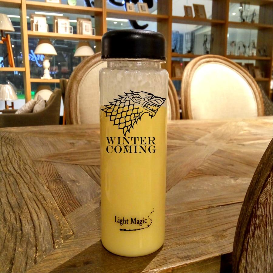 500ml game of thrones stark Water Bottle Environmentally bottle Sport Healthy Lemon Juice kettle Water Bottle