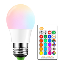 E27 RGB LED Bulb 5W 16 Color Changeable Lamp LED Spotlight+24Keys IR Remote Control AC85 265V Holiday Lighting bombilla led