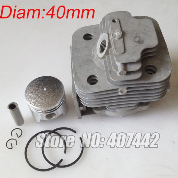 1x CG430, 40F-5 engine brush cutter cylinder piston KITS 40MM посуда для тушения tonze dgd 40f 40kz 40eb dgd 40f 40kz 40eb 4l