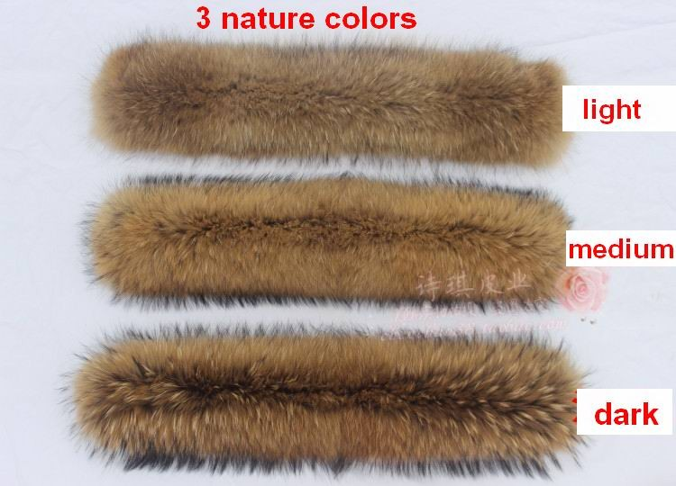 Winter 100% Echt Real Natuurlijke Wasbeer Bontkraag Vrouwen Sjaal - Kledingaccessoires - Foto 3
