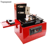 2020 Electric Sealed Ink Cup Pad Printer for Date  Number  Small logos + One Metal Cliche Plate + One Rubber Pad Binding Machine Computer & Office -