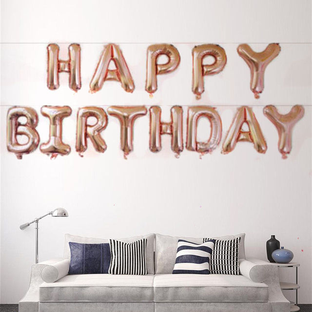 16inch Happy Birthday Letter Helium Foil Balloon Sets Birthday Party