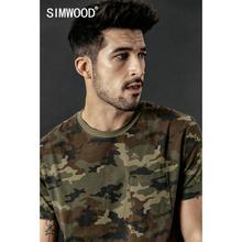 Мужская футболка SIMWOOD, камуфляжная футболка в стиле милитари с принтом в виде черепов, 190306