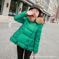 Jacket Coat Women Cotton Down Parkas With Luxury Large Fur Collar Hood Thick Coat Outwear 6Colors New Winter Plus M - 3XL A102