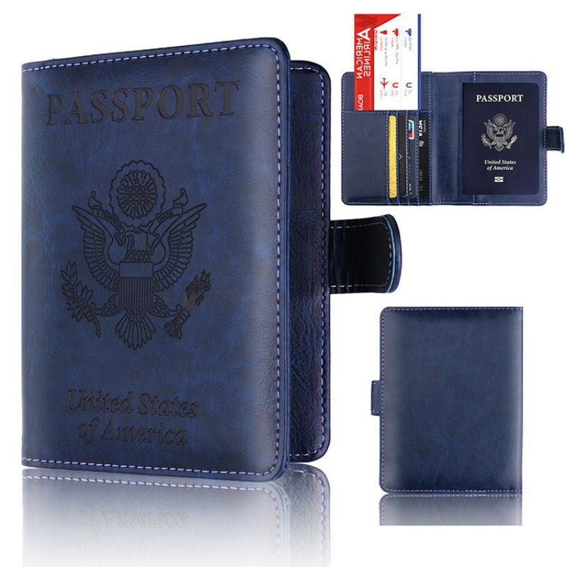 Leather Cards Passport Holder Unisex Travel PU Leather Passport Cover Case Home Office Storage Supplies