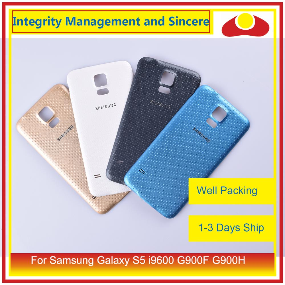 For Samsung Galaxy S5 I9600 G900F G900H SM-G900F G900 Housing Battery Door Rear Back Cover Case Chassis Shell