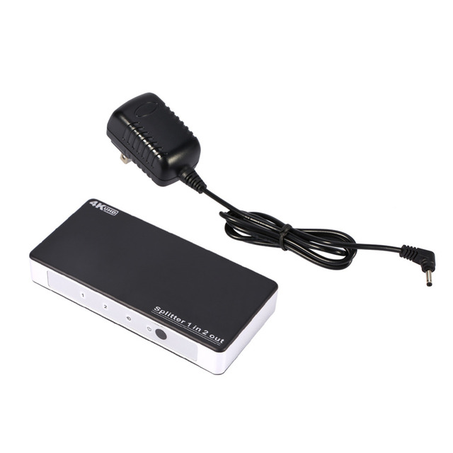 1x2 HDMI Splitter Switch 4K*2K HDMI 1.4 Splitter Adapter 1 in 2 Out Splitter Support 3D For HDTV Computer DVD