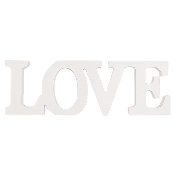 Деревянный с надписью «Love» столешницы автономный знак центральным (белый)