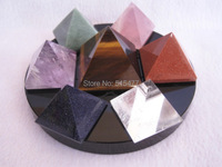 Seven natural crystal pyramid array is a great super energy crystal pyramid seven colors
