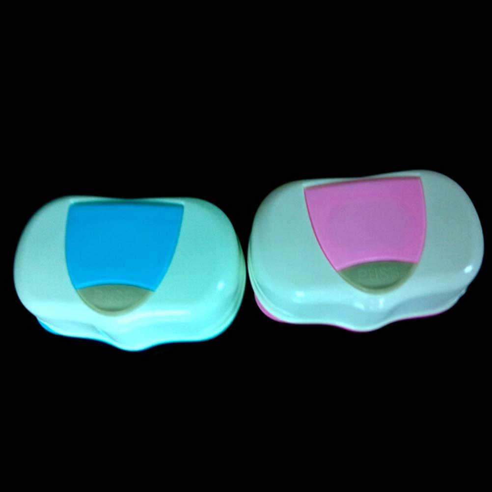 Детские салфетки, пластиковый Автоматический чехол для салфеток, дизайнерский органайзер для хранения, пресс, всплывающие аксессуары для дома, коробка для влажных салфеток, случайный цвет