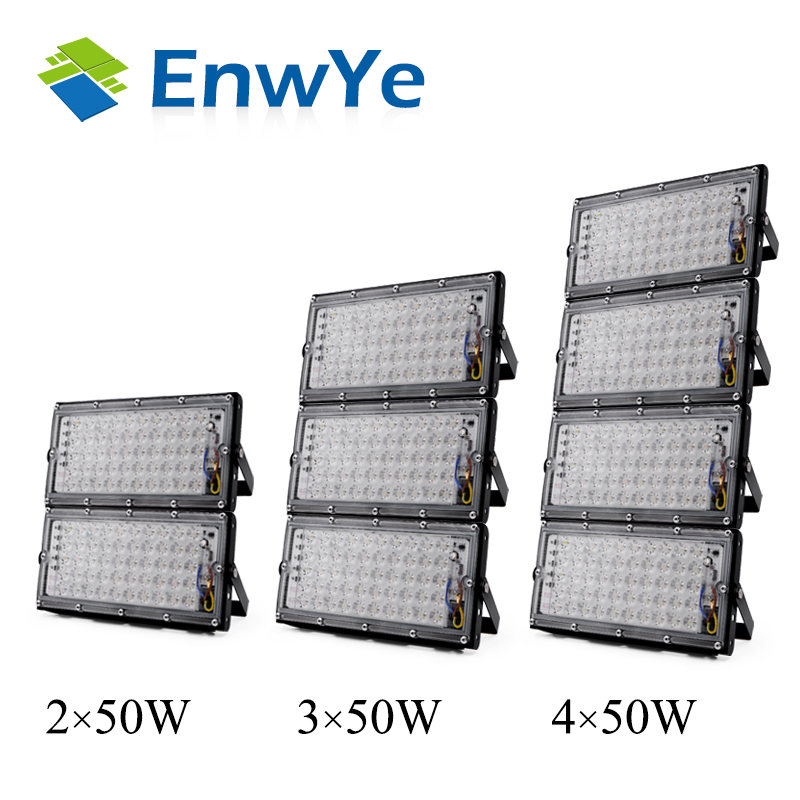 EnwYe 50W perfect power LED Flood Light Floodlight LED street Lamp 220V 240V waterproof Landscape Lighting IP65 led spotlight 1