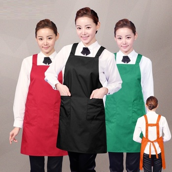 (10pcs)fashion edition work apron Waiter coffee milk tea shop nail advertisement apron custom embroidery LOGO printing