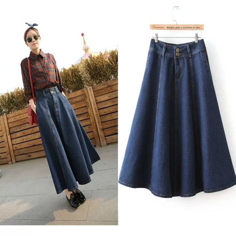 Image result for Denim skirt  Brand model