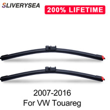 SLIVERYSEA Replace Wiper Blades for 2007-2016 26+26 Natural Rubber Clean Front Windshield Car Accessories