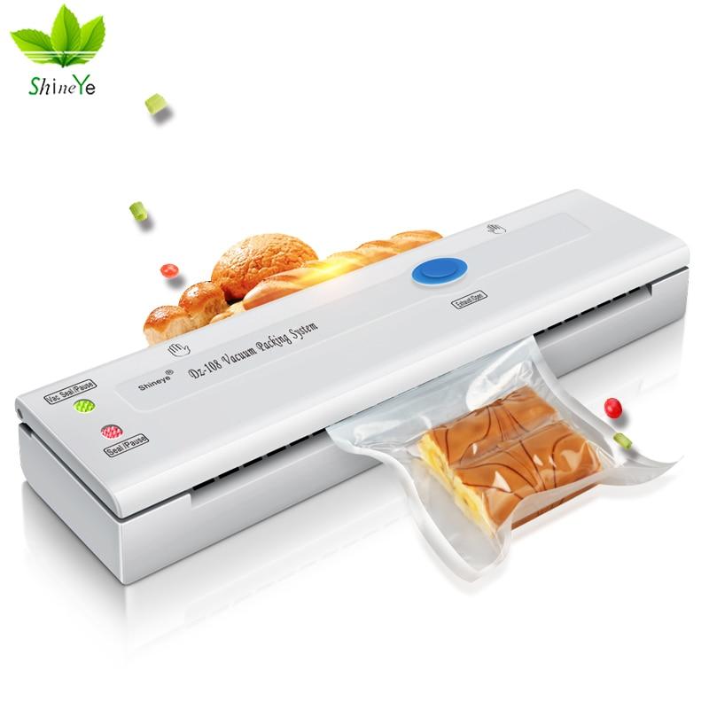 ShineYe DZ-108  Household Food Vacuum Sealer Packaging Machine Film Sealer Vacuum Packer Including Bags