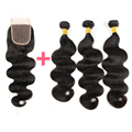 Brazilian Body Wave With Closure 7A New Quality 3 Bundles With Closure World Best Unprocessed Brazilian Virgin Hair With Closure