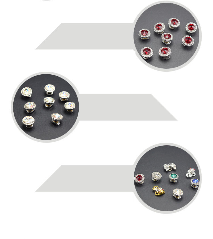 360 Degree Rotatable Nail Rhinestones 3D Design Crystal Transfer Beads Jwelry Decoration 8 Colors Nails Art Decorations
