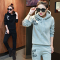 2016 autumn sweat suits women hoody and long pants set survetement femme track suit women winter suit two piece set tracksuit