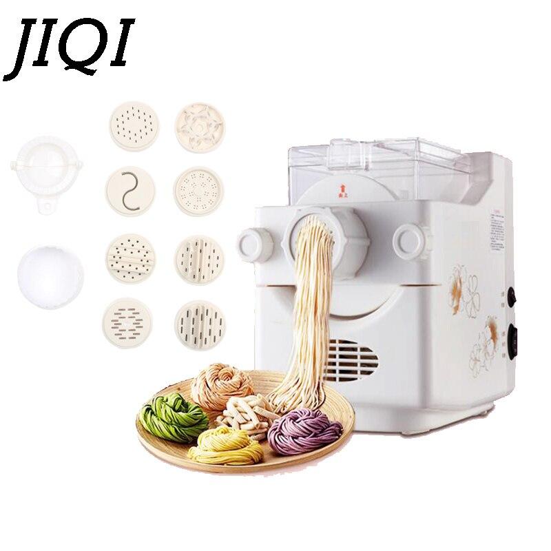 JIQI Noodle maker Household automatic electric dumpling wrapper pressing machine multifunctional mini dough blender processor EU dumpling wrapper cutter