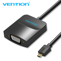 Vention Micro HDMI To VGA Cable Male To Female VGA Adapter Audio Jack Micro USB Cable
