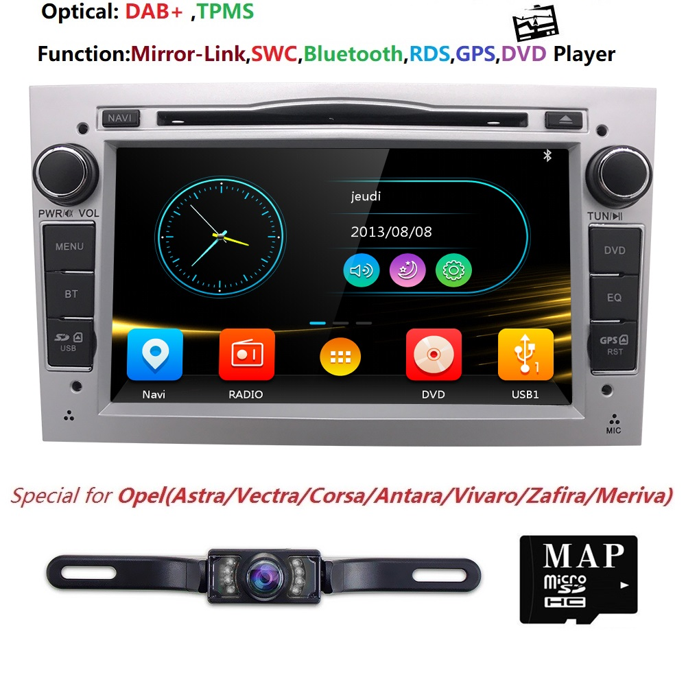 2 din 7''Car DVD Player Per Opel Astra 2004 2005 2006 2007 2008 2009 Opel Antara BT Radio GPS Navi SPECCHIO LINK SWC DAB + TPMS DTV