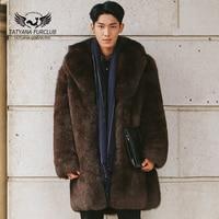 Tatyana Furclub Luxury Man Fox Fur Coat,100% Real Value Natural Fur Coat,Top Quality Winter Men Jacket Fur,Men Fur Coat Jacket