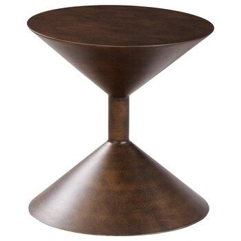 Mesa auxiliar de sofá escandinavo con reloj de arena de gama alta, muebles creativos con personalidad, mesa de centro redonda minimalista moderna