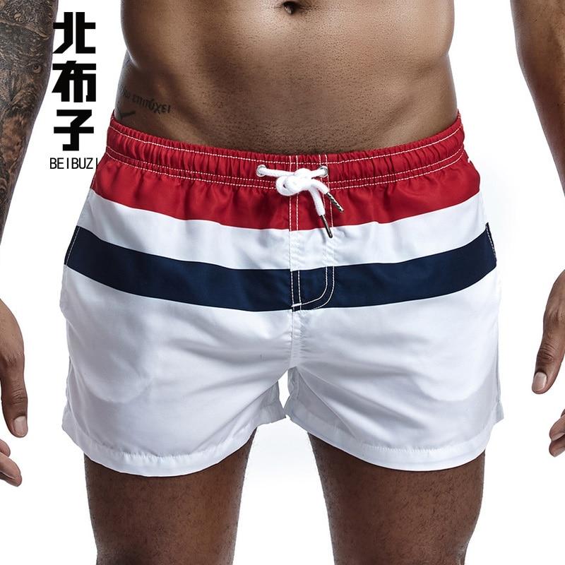 New Men's Board Shorts Quick Drying Beach Shorts Bottoms Casual Shorts Small Boxer Sexy Swimwear Short Pants