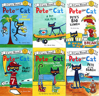 6 Book/set First I Can Read Pete The Cat Kids Children Classic Story Picture Books Early Educaction English Stories Reading Book