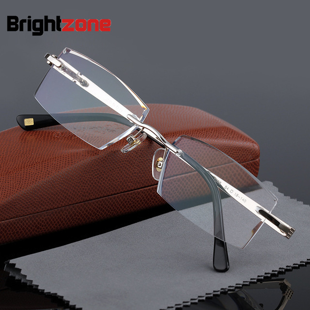 bd80136d76 Finished Product Man Fashion Male Rimless Grace Cutting Presbyopic Reading  Glasses Hyperopia Frame Men EyeglassAnti-Fatigue 1008. WINTER SALE