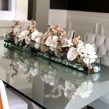 Искусственный цветок, фаленопсис, латекс, силикон, настоящее прикосновение, большая Орхидея, свадебная, высокое качество, для дома, вечерние, decoratio