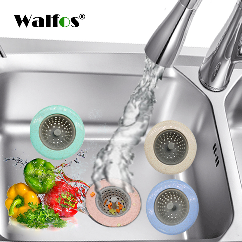 WALFOS пшеничной соломы Кухня раковины ситечко Ванная комната Душ слив раковины стоков крышка раковина дуршлаг канализации волос сетчатый фильтр