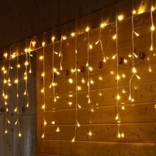 SVELTA 6M LED Garland Icicle חג המולד אורות אורות חגורה אורות לבית חג המולד מסיבת חג המולד X'mas המפלגה בחוץ