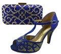 Señoras matcing altura del tacón 9.5 cm italiano italia de calzado y bolsos decorado con cortes de zapatos con bolso a juego zapato de las mujeres y bolsa
