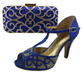 ladies matcing shoe and bag italy heel height 9.5cm italian shoe with matching bag decorated with cut-outs women shoe and bag
