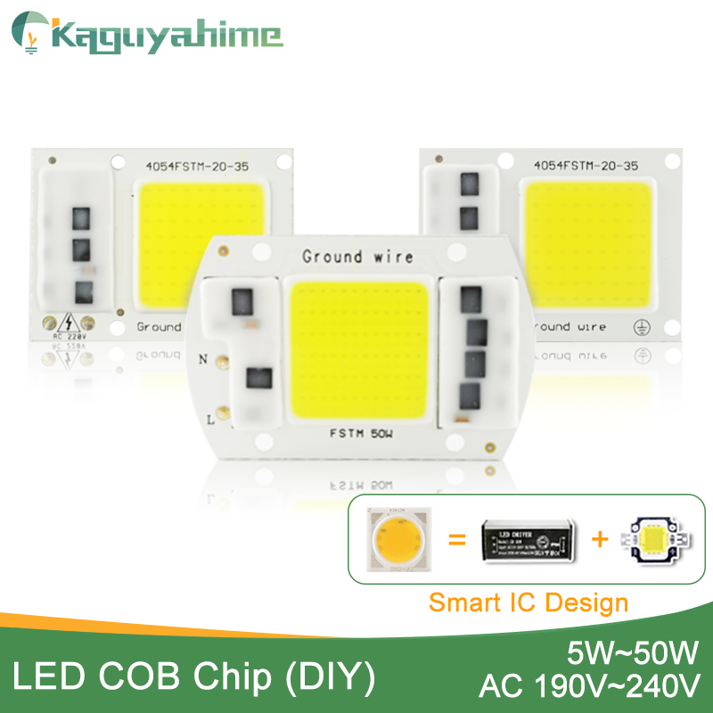Kaguyahime AC 220V Integrated COB LED Lamp Chip 50W 30W 20W 10W 5W Smart IC Driver High Lumens For DIY Floodlight Spotlight