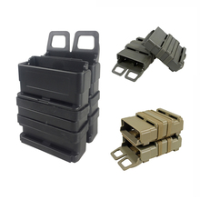Tactical Rifle Mag M4 Magazine Pouch Double Fast Attach MOLLE System Holder for 5.56 Hunting