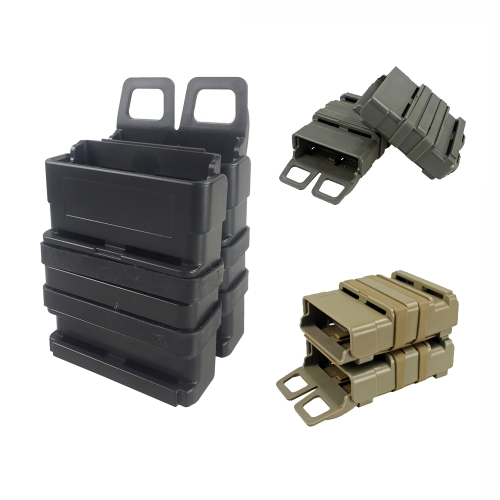 Tactical Rifle Mag <font><b>M4</b></font> <font><b>Magazine</b></font> Pouch Double Fast Attach MOLLE System Holder for 5.56 Hunting image