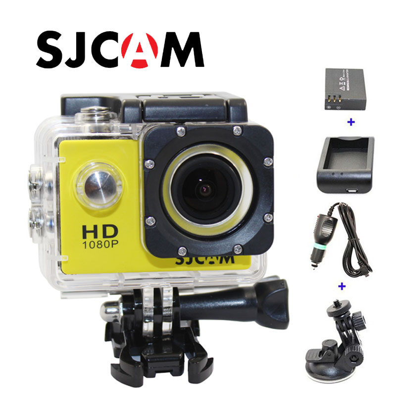 Free shipping!!Original SJ4000 SJCAM HD Sport Action Camera+Car Charger+Holder+Extra 1pcs battery+Battery Charger for DV camera free shipping original sjcam sj5000 sport action camerar car charger holder monopod extra 1pcs battery battery charge for camera