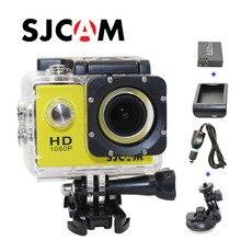 Frete grátis!! Original SJCAM SJ4000 Câmera de Ação Esporte HD + Carregador de Carro + Suporte + Extra 1 pcs bateria + Carregador de Bateria para câmera DV