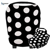 Multi Use Breastfeeding Mom's nursing cover Stretchy cotton dot High Chair Cover Scarf for Baby Boy &Girl Fits Infant Car Seats