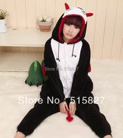 New Adult Unisex Animal Design Lovely Demon Cat Devil Pajamas Sleepsuit Onesie Sleepwear