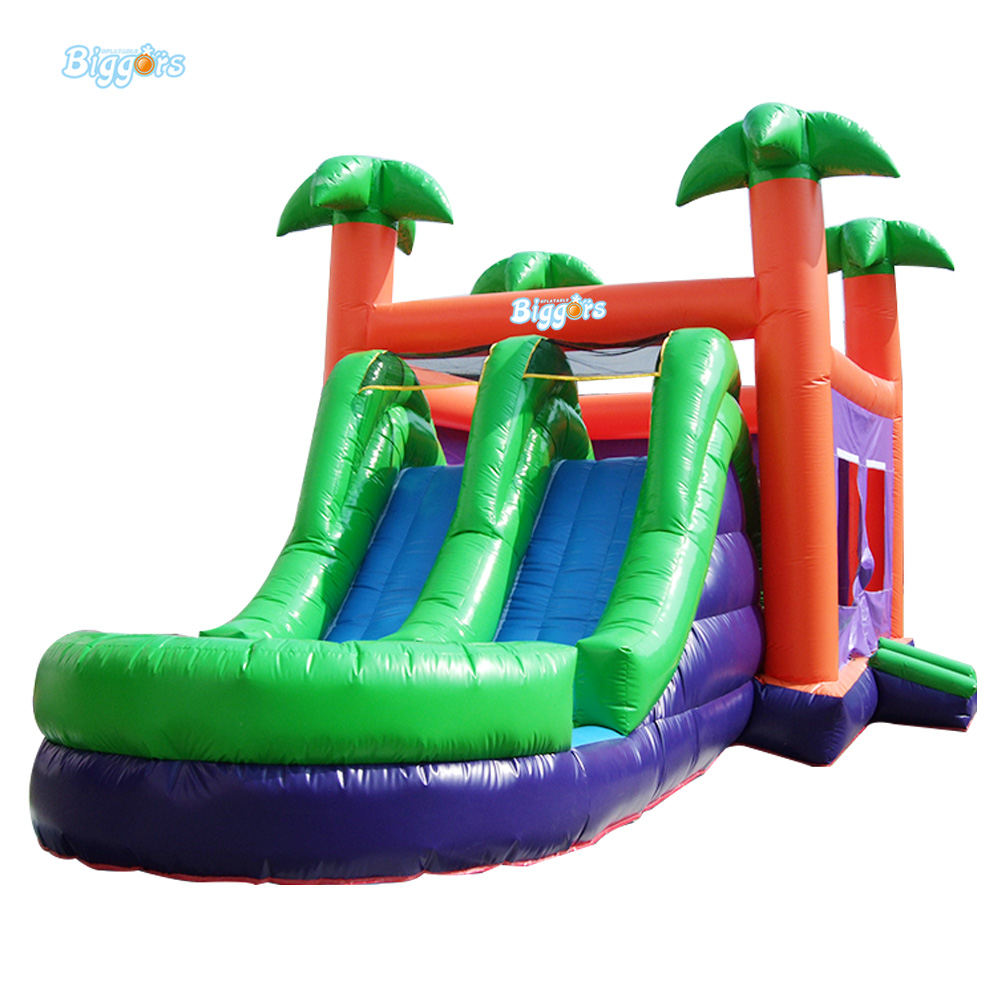 Jungle Exciting Hot Sale Inflatable Jumping Bouncer with Double Slides